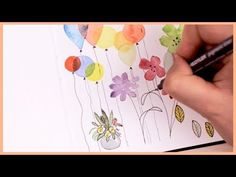 In today's Art Journal Thursday episode I'm going to show you easy watercolor doodle ideas for beginners! They are super and easy to recreate, … Watercolor Video, Watercolor Sketchbook, Watercolour Tutorials, Watercolor Techniques, Watercolor And Ink, Watercolor Paintings, Watercolors, Plants Watercolor, Beginner Art
