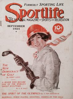 Sportlife Magazine Sep 1924 Lady Golfer Cover