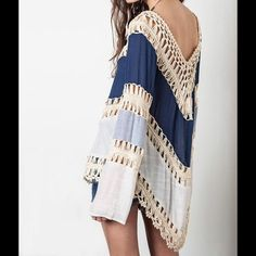 Boho crochet top Please see picture 3 for measurements. Firm Tops Tees - Long Sleeve