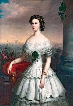 Empress Elisabeth of Austria in 1854.
