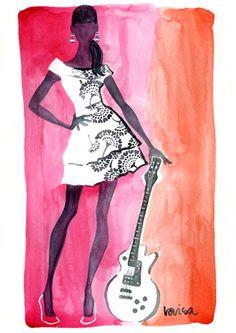 Fashion illustration by Lovisa Oliv