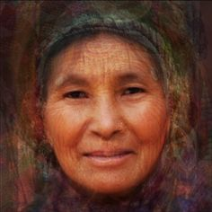 Average face of 11 wise women around the globe, pinned to a board 'World People' by @Misaki S #averageface