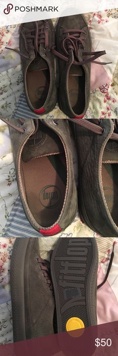 Fit Flop Sneakers olive green Fit Flop olive green swade Sneakers.  Never worn.  Smoke free home! Fit Flop Shoes Sneakers