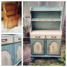 Contact Me At Girl UPcycled For Custom Work! SOLD Sample Of CUSTOM WORK  Hutch Shabby. Kitchen HutchSmall ...