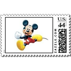 Cute Disney Characters on Stamps for birthday, baby shower, weddings, and more. #disney #mickeymouse #mickey #stamps #characters #birthday #baby #babyshower #weddings