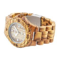 Ons houten horloge Chitwan heeft een hele natuurlijke look. Dit komt mede door het Zebra hout, wat in alle elementen van dit horloge verwerkt is. Naast de looks wordt dit horloge ook gekenmerkt door comfort, vanwege het geringe gewicht en de perfecte afwerking.   http://www.looyenwood.nl/product/houten-horloge-chitwan/