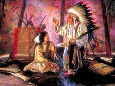 """Jigsaw Puzzle """"Alfredo Rodriguez Art Thanks to Audrey for the artwork Attachment] Native American Spirituality, Native American Tribes, Native American History, American Indians, Die Stämme, American Indian Art, American Paint, Native Indian, Western Art"""