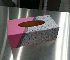 Décorer sa boîte à mouchoirs Creation Deco, Tissue Boxes, Scrap, Decoration, Decoupage, Decorative Boxes, Inspiration, Club, Ring