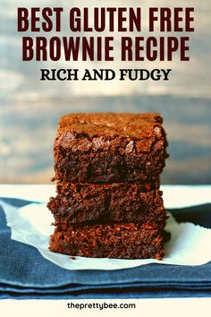 You can make the best gluten free brownies - this recipe is so easy to follow! You will love the texture of these rich, chocolatey brownies. #glutenfree #brownies #recipe #dairyfree Delicious Chocolate, Chocolate Desserts, Best Gluten Free Brownies Recipe, Brownie Recipes, Dessert Recipes, Dairy Free, Good Things, Chocolate Deserts, Desert Recipes