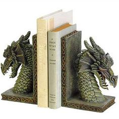 Dragon bookends!