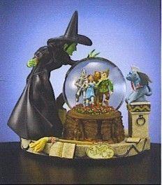 Wizard of Oz Wicked Witch Dorothy Snowglobe Figurine Statue