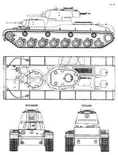 SMK tank Blueprint - Download free blueprint for 3D modeling