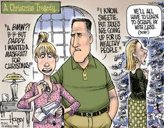 Hey, look, it's a liberal fantasy cartoon. Everyone knows scraping by is for poor people, like paying taxes.
