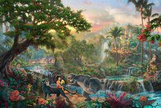 Thomas Kinkade Disney art | ... The Jungle Book, Thomas Kinkade STUDIOS, Walt Disney, art | Wallpaper