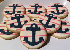 NAUTICAL Birthday/Party Favor Sugar Cookies