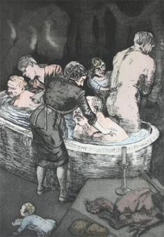 Rub a Dub Dub by Paula Rego : Official Site: Leading independent contemporary art gallery. Original Print, Paintings, Collectors Works and Studio Pottery for sale. Buy quality fine art securely on-line, at home or from our Devon based gallery Paula Rego Art, Modern Art, Contemporary Art, Unusual Art, Portraits, Buy Art Online, Art Auction, Art Gallery, Sketches