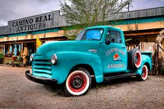 Old Chevy Truck in Turquoise  By duncande150  Del Duncan on Flickr Commons