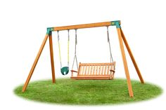 It's easy to add a fun horse glider to your Backyard Swing Set with heavy-duty brackets. Shop Swing Set Hardware & accessories at Eastern Jungle Gym. Cedar Swing Sets, Wood Swing Sets, Swing Sets For Kids, Swing Set Brackets, A Frame Swing Set, Diy Swing, Bench Swing, Indoor Swing Set, Swing Set Hardware