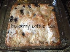 Blueberry Coffee Cake! #recipe #blueberry