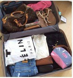 ✦ ⊱ ɛʂɬ ཞ ɛɩɩą ⊰ ✦ travel сумки, модные идеи 및 идеи. Packing Tips, Travel Packing, Travel Luggage, Travel Backpack, Travel Maps, Travel Usa, Fashion Style Summer, Women's Fashion, Travel Outfit Spring