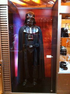 Darth Vader costume - Star Wars: Where Science Meets Imagination Darth Vader costume from Episode IV - A New Hope - at the Star Wars: Where Science Meets Imagination exhibit at Exploration Place in Wichita, KS. *I have actually seen this. In person. Me, myself and I. HA!*