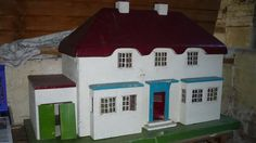 For Sale on Ebay a Vintage 1940's Triang Princess Doll House with garage plus some period furniture ... ending 9 August 2014 ...
