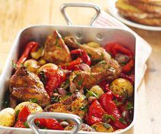 Du poulet rôti aux légumes
