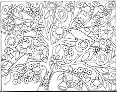 RUG HOOKING PAPER PATTERN Tree Of Life FOLK ART ABSTRACT PRIMITIVE KARLA G