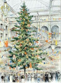 'arbre de Noël des Grands Magasins du Louvre  - Mathieu Joseph Gustave…