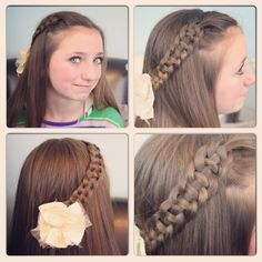 4-Strand Slide Up Braid   Cute Girls Hairstyles