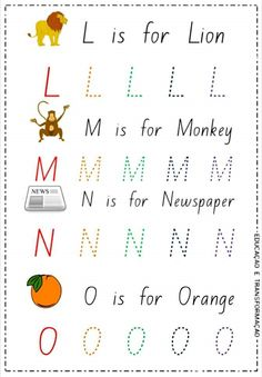 L Is For Lion, Words, English Alphabet, Activities, Horse
