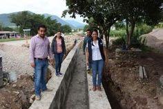 Concá, Arroyo Seco, Qro. 24/11/16. En actividades de la presidente municipal, Dionicia Loredo Suarez, recorrió los trabajos que se ejecutan...