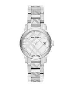 Burberry Ladies The City Silvertone Bracelet Watch Women's Silver