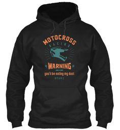 Motocross T Shirt Black T-Shirt Front