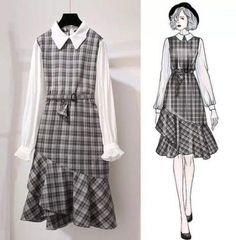 Korean fashion styles 493988652877358053 - Technical Drawings Source by nebihanakca Fashion Design Drawings, Fashion Sketches, Fashion Drawing Dresses, Fashion Dresses, Fashion Shoes, Fashion Jewelry, Asian Fashion, Girl Fashion, Classy Fashion