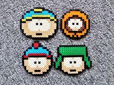 Long Black Fingers : South Park Perler Beads