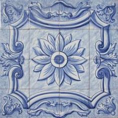 1607 Portuguese panel tile from Portugal