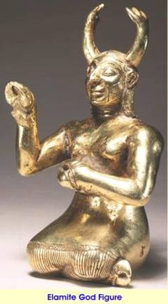 Additional photos of artifacts from Sumer, Elam and Assyria  Elamite gold figure ,4000 BC