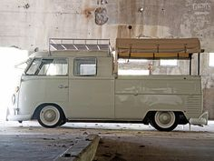 This is so chic, beautiful and funky at the same time | 1965 Volkswagen Double Cab