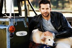 Bradley Cooper AND HIS DOG | Bradley Cooper and his rescue, Charlotte
