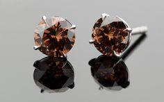 chocolate diamond earrings | SHE FASHION CLUB: Chocolate Diamond Earrings