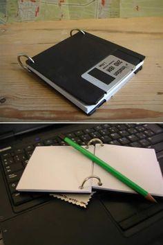 floppy disc notepad