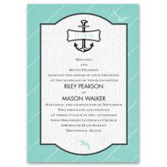 Nautical Details Invitation - Wedding Invitations : Beach, Destination . * numerous design options available!