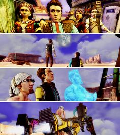 tales from the borderlands Borderlands Series, Tales From The Borderlands, Rifles, Swords, Artworks, Video Games, Gay, Tumblr, Books