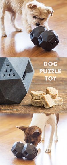 Keep your dog's body and brain busy with the Odin puzzle dog toy. Fill it with food or treats, and let your pup push it around to release.