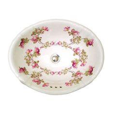 Heirloom Roses Fluted Drop-in Sink