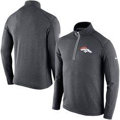 Denver Broncos Nike Game Day Half-Zip Knit Performance Tri-Blend Jacket - Charcoal - $67.99