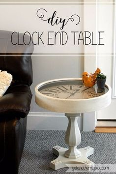 1. DIY Pedestal Clock End Table yetanotherdiyblog 2. Gold And White Stenciled End Table girlinthegarage 3. Retro Vintage Suitcase Side Table woonblog 4. Pallet End Tables diyjoy 5. Rustic End Table Tutorial ehow 6. Stacked Trunk End Table lizmarieblog 7. DIY Side Table build-basic 8. DIY Brass Side Table abeautifulmess 9. Adjustable Side Table sinnenrausch …