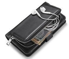 Samsung Galaxy S5 Detachable Magnetic Zipper Pocket Case