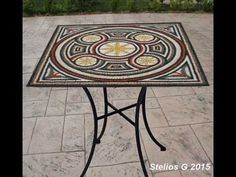 Making Mosaics table with marble mosaic Outdoor Tables, Outdoor Decor, Marble Mosaic, Mosaics, Outdoor Furniture, Home Decor, Decoration Home, Room Decor, Mosaic